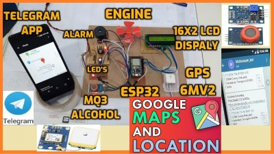 Alcohol Detection System with Engine Locking using ESP32 and Telegram App | IoT