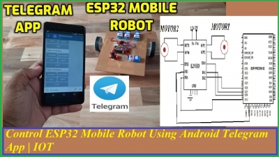 Control ESP32 Mobile Robot Using Android Telegram App | IOT