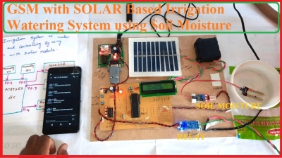 GSM with SOLAR Based Irrigation Watering System using Soil Moisture Sensors